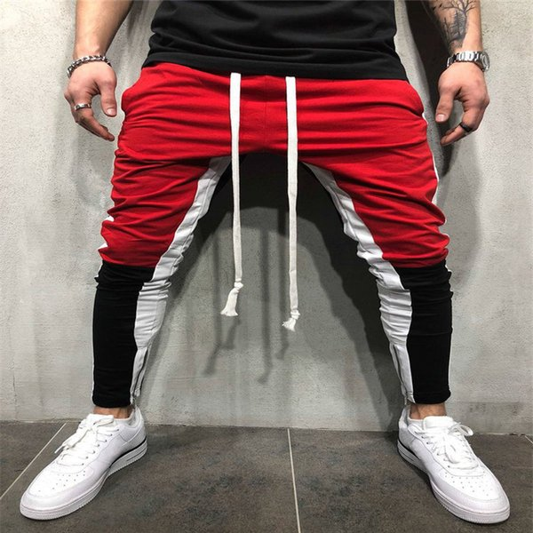Fashion Men's Jogger Casual Pants Trendy Sportswear Workout Boys Patchwork zipper Hip Hop Dance Cool Harem Pants Long Trousers