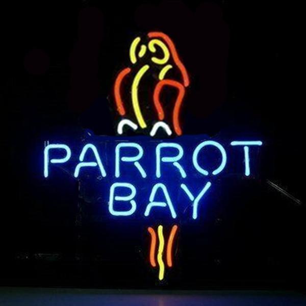 "17""x14"" Captain Morgan Parrot Bay STORE OPEN BEER BAR PUB CLUB WALL DECOR LAMP NEON LIGHT SIGN"
