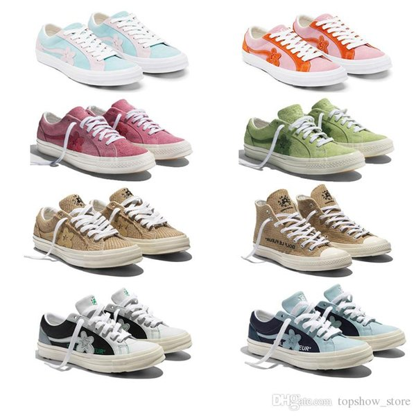 2019 Tyler The Creator x One Star Ox Golf Le Fleur Fashion Designer Sneakers Casual Shoes for Skateboarding Sport Shoes for Men Women