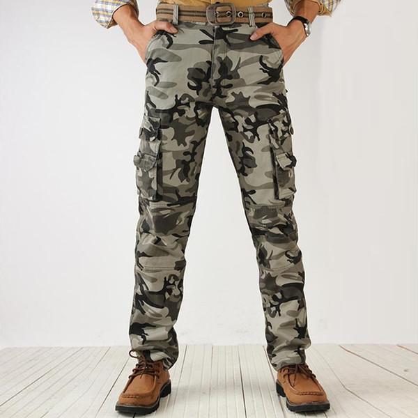Etecredpow Womens Mid Waist Multi-Pocket Trousers Sport Cargo Joggers Pants