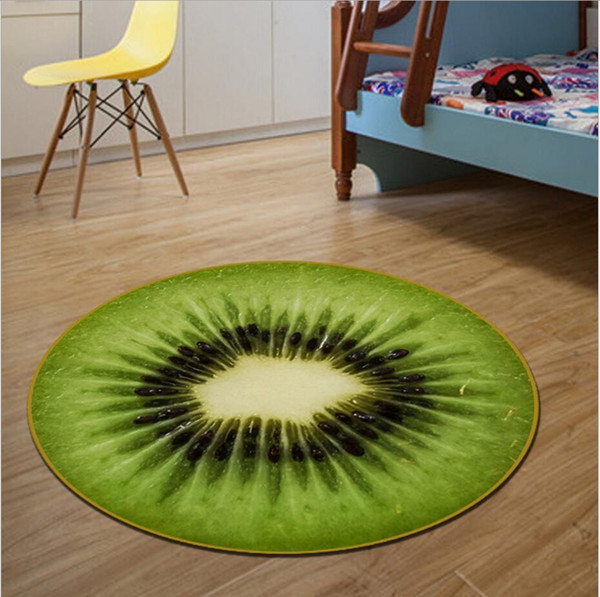 Enjoyable Kawai Fruit Blanket Carpet Round 100Cm Floor Rugs Mats Anti Skid Carpets For Living Room Computer Swivel Chair Cushion Alfombras Carpet Installations Machost Co Dining Chair Design Ideas Machostcouk