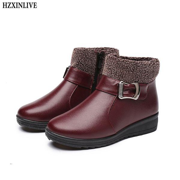 Botas Mujer Con Suela Gruesa Zapatos Británico Cuero Genuino
