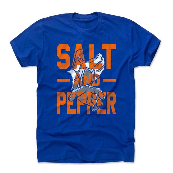 New York Todd Frazier Salt and Pepper Adult Shirt - Blue Tee Summer Short Sleeves Cotton T-Shirt top tee
