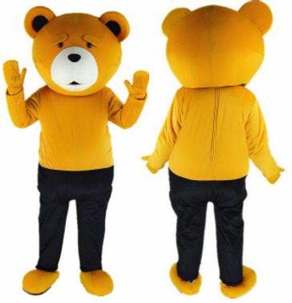 Costume di peluche professionale Teddy Bear Costume mascotte Teddy Costume adulto Fancy Dress Abbigliamento Halloween Party Suit Funny Animal Bear Costume