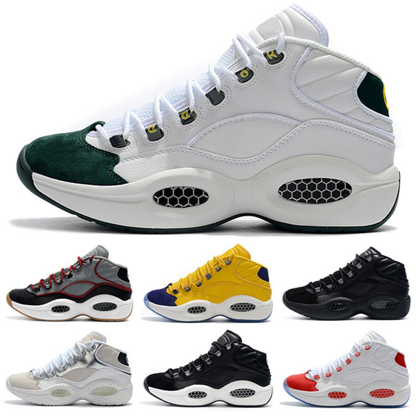 designer shoes Allen Iverson Question Mid Q1 Basketball Shoes Answer 1s Zoom mens running Athletic shoes luxury Elite Sport Sneakers