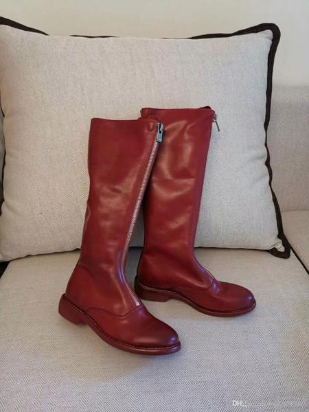 2019 YENI Son lüks Kadın tasarımcı çizmeler Martin Çöl Boot flamingolar Aşk ok madalya 100% gerçek deri kaba boyutu Kış td190803