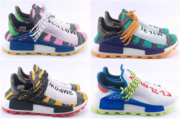 """Drop Shipping Cheap Famous NR1 """"HUMAN RACE"""" Pharrell Williams x 2016 Womens Mens Sports Running Shoes Outdoor Shoes Size 36-45"""