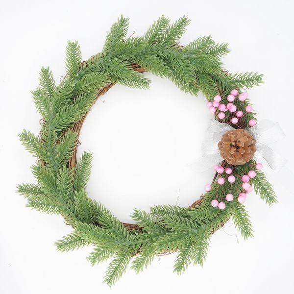 30cm40cm50cm Рождественского венок Сыпучего лист шишка Garland передней дверь стена окно шкаф Украшение для дома
