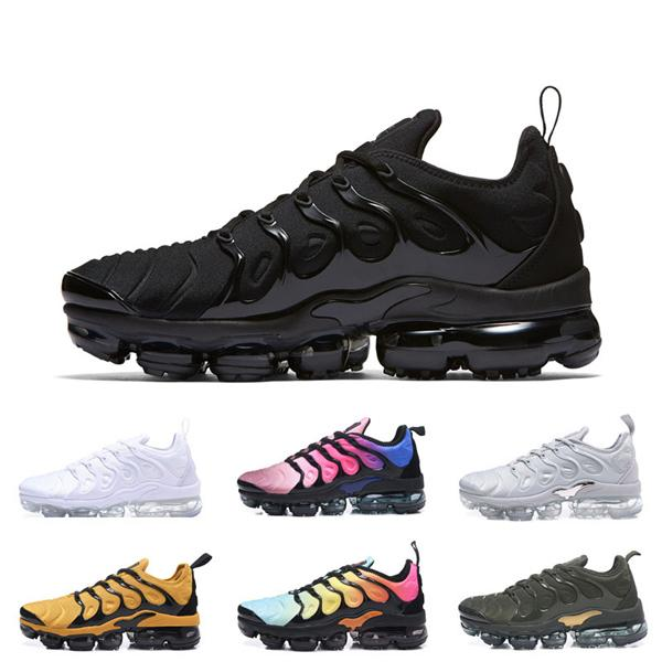 best selling 2019 tn Plus React Trainers Sports shoes for Men Running Shoes Outdoor triple White presto Shock TN Women Designer Hiking Zapatos Sneakers
