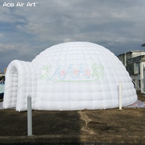 Huge advertising event marquee inflatable dome tent,igloo air balloon gathering station,bar shelter cover dome with single door for sale