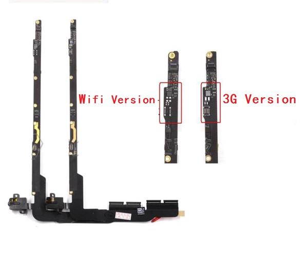 Original new For iPad 3rd 4th 3 4 Volume Headphone Audio Headset Jack + PCB Board Flex Cable Wifi 3G version