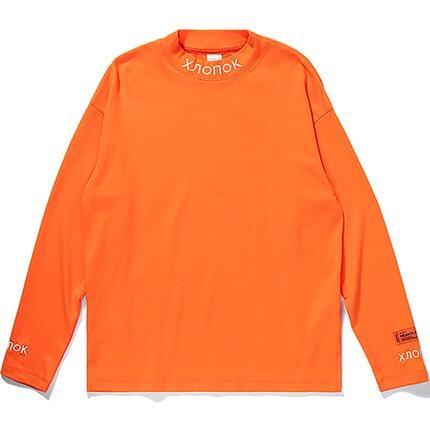 New Quality Heron Preston Men Women Turtleneck Collar Embroidery T shirt Pullover Hiphop Fashion Long Sleeve Cotton Tshirt S-XL