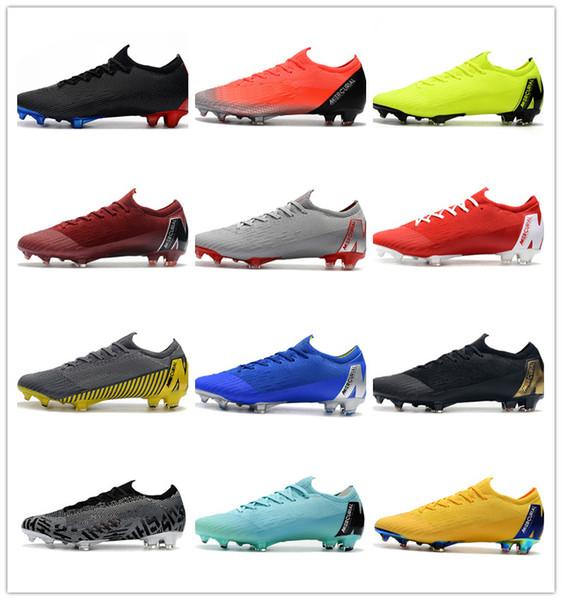 2019 New Mercurial Superfly KJ VI 360 Elite FG Mens Soccer Cleats Cristiano Ronaldo Neymar ACC Soccer Shoes CR7 Football Boots Scarpe Calcio
