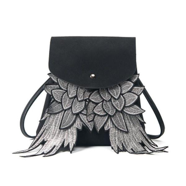 New hot-sale Girls Cute Backpack Woman Wing Design School Bag Boys girl Angel Wings travel bag Daypack Ladys Shoulder