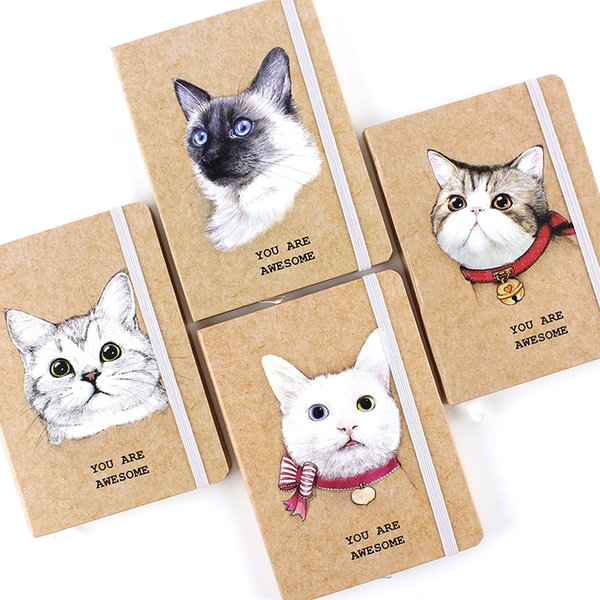 10.5*7.5cm Lovely Cat Daily Office Supplies Week agendaner Spiral Notebooks Day agenda Diary Notepads Meno Pad School Stationery