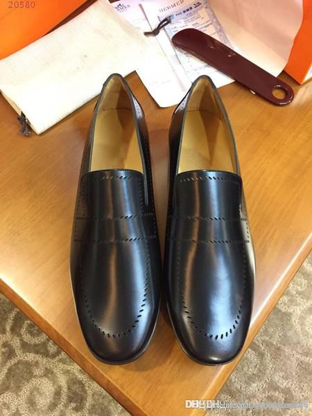 Klasik erkek ayakkabı Ithal İtalyan inek derisi kumaş Iç astar inek derisi ayak pedi Rahat rahat nefes iş rahat ayakkabılar