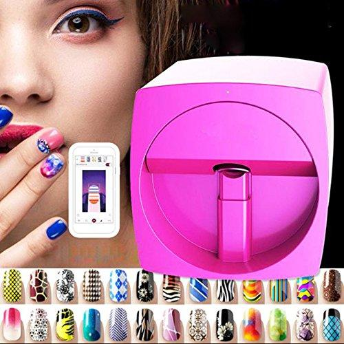 diy nail art printer automatic painting machine v11 multifunction mobile wifi easy all-intelligent 3d nail printers video to teach for salon