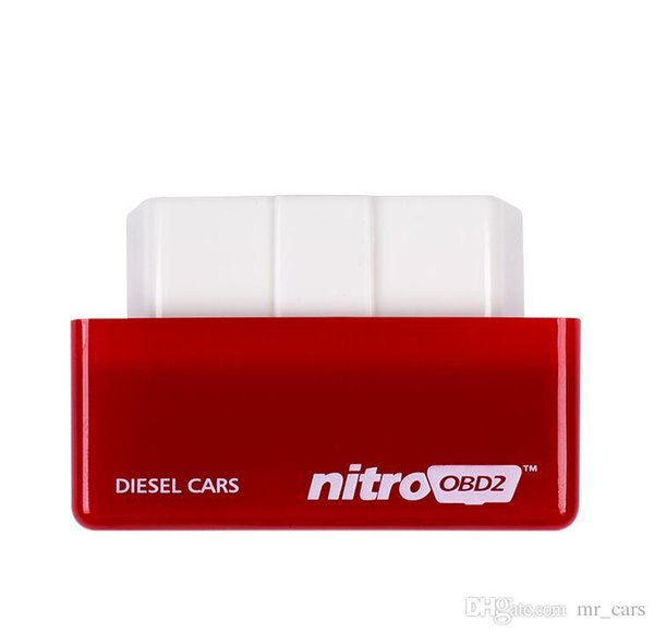 Nitro OBD2 Performance Power Tuning Box Chip Plug Drive For Diesel Car NitroOBD2 CTE038-01 Gasoline Benzine Cars Chip Tuning Box HHA60