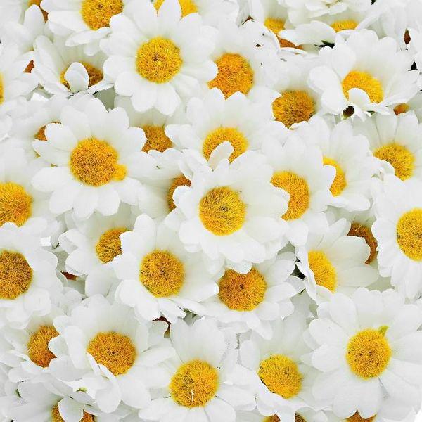 Toptan Satış - Toptan-Hoomall 100PCs Mini Beyaz Papatya Çiçek Yapay İpek Çiçek Parti Düğün Dekorasyon Ev Dekorasyonu Düğün Çiçekleri (kök olmadan)