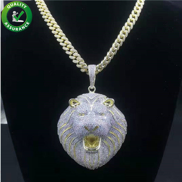 Hip Hop Bling Chains Jewelry Men Iced Out Pendant Luxury Designer
