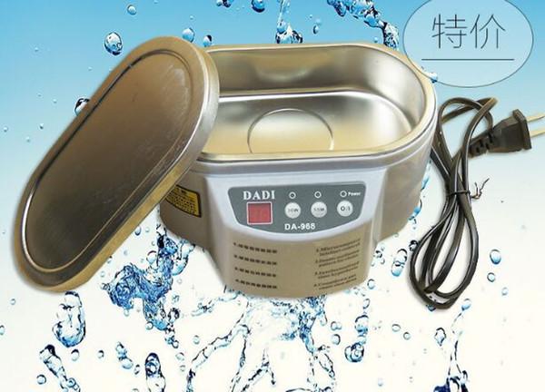 Ultrasonic Cleaner 600ml Intelligent Control 30W / 50W Digital Mini Ultrasonic Cleaner Bath per la pulizia dei vetri dei gioielli