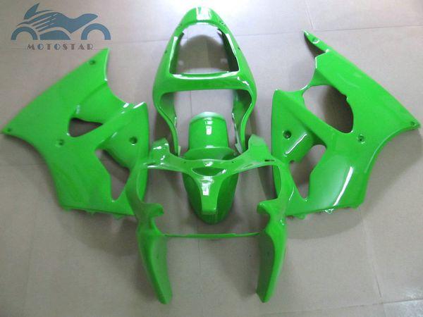 road racing bodywork fairing kit for KAWASAKI ninja 2000 2001 2002 ZX6R Light green ZX 6R 00-02 Bodywork fairing kits for