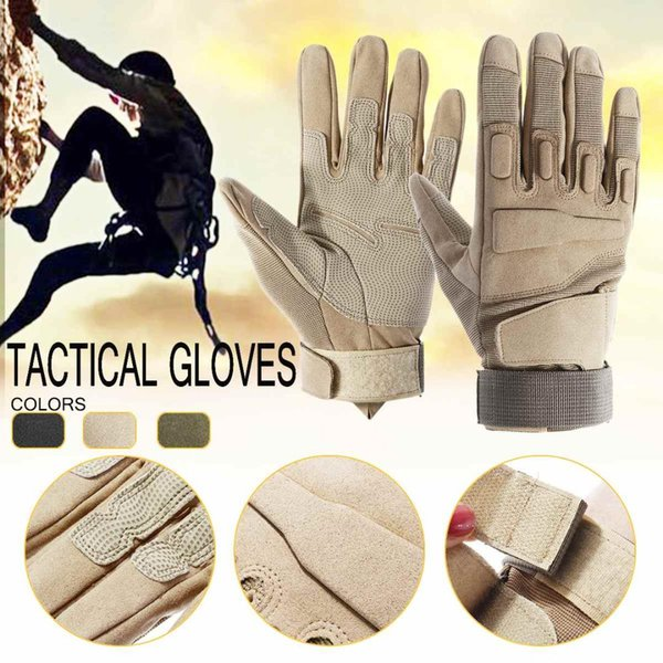 Outdoor Sports Hiking Cycling Tactical Gloves Army Combat Climbing Shooting Paintball Full Finger Gloves