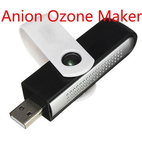 Toptan ücretsiz kargo 2019 YENI Mini Araba Anyon Ozon Jeneratörü Hava Temizleyici-Arıtma USB İyonik Hava Temizleme Cihazı DC 5 V