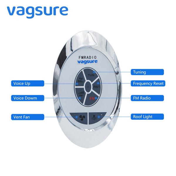 Vagsure 1Pcs Oval Control Panel For Shower Cabin Accessories intelligent FM Radio Exhaust Fan Speaker Lighting Shower Controller