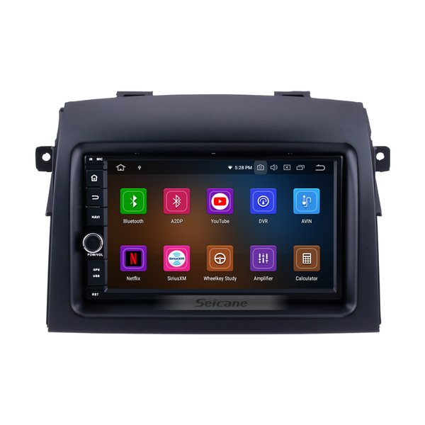 OEM 7 Inch Android 9.0 Car Radio GPS Navigation for 2004-2010 Toyota Sienna with Bluetooth HD Touchscreen Mirror Link support TPMS car dvd