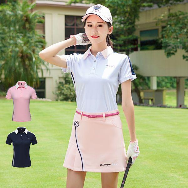 Summer Golf Clothing Women's Tshirt 2019 Short Sleeve Team Uniforms Quick Dry Jersey Outdoor Sports T-Shirt