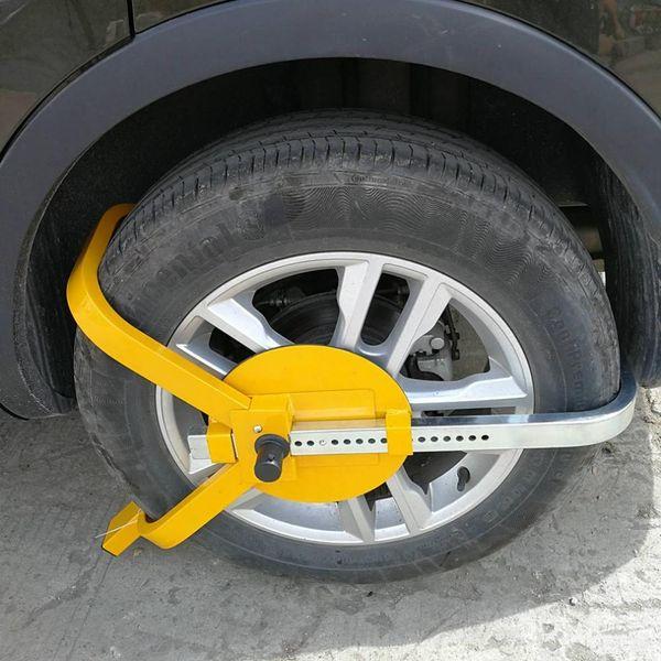 Çok Fonksiyonlu Araba Lastik Kilidi Küçük Üç Çatal Tekerlek Kilidi Lastik Araba Anti-Hırsızlık Aksesuarları