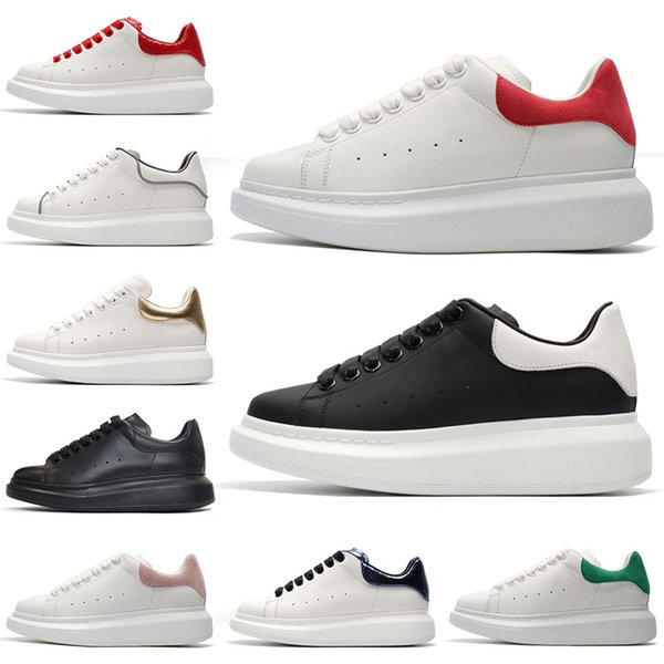 Mens Trainers Luxury Tennis shoes Womens Black White Leather Red Brand Cushion Green PINK Grey Suede Mens Designer shoes Sport Sneakers