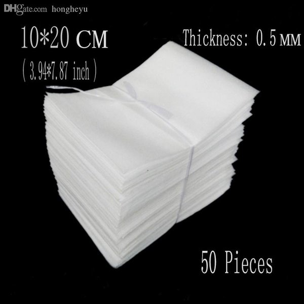 -10 al por mayor * 20cm (3,94 * 7,87 pulgadas) de 0,5 mm 50Pcs EPE bolsas de embalaje de espuma protectora de embalaje hoja envolvente espuma de Eva de los paneles de aislamiento Empaquetado