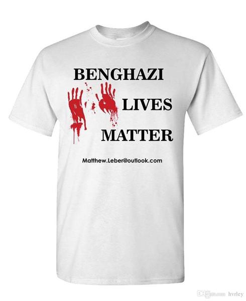 Новые 2018 Бенгази жизни дело предатель Клинтон правда-мужская хлопок футболка с коротким рукавом хлопок топы рубашка мужчины повседневная футболка