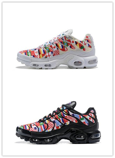 Großhandel Nike TN Plus Air Max Airmax TN Plus NIC QS 90 Designer Schuhe International Flag Männer Frauen Laufschuhe World Cup Limited NIC QS