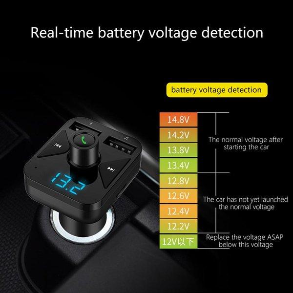 BT16 3.4A Chargeur USB Kit De Voiture Bluetooth Transmetteur FM Modulateur Audio Musique Voiture Mp3 Lecteur T/él/éphone Sans Fil Mains Libres Carkit