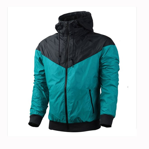 En gros Designer Vestes Hommes Femmes Sport Marque Windbreaker Veste Automne Manteaux Plus La Taille Zipper Hoodies Running Vestes S-3XL 9963CE