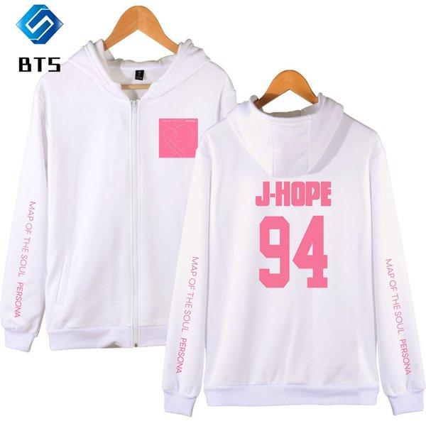 BTS New 2D Print Zipper Men/Women Sweatshirt Spring High Quality Zipper Cap Hoodies sweatshirt BTS Hip Pop Fashion Hooded