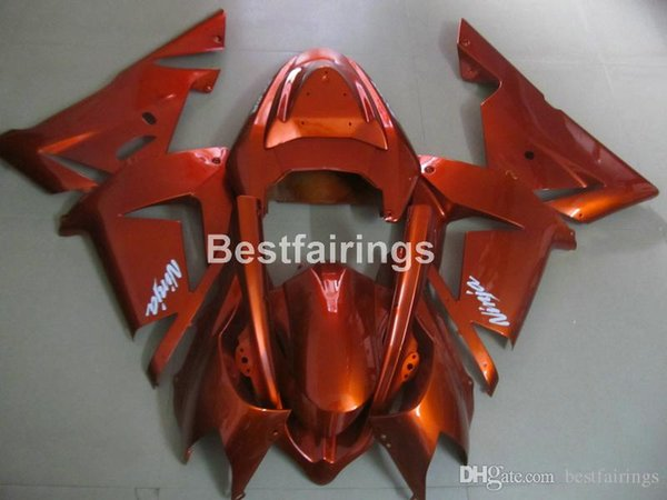 New hot body parts Fairings for Kawasaki Ninja ZX10R 04 05 wine red motorcycle fairing kit ZX10R 2004 2005 MT33