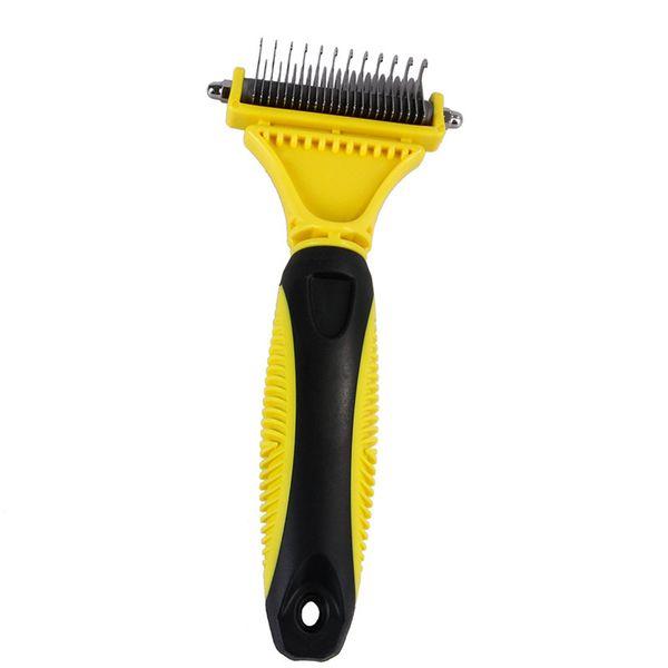 Double Side Pet Fur Dog Brush Dematting Matbreaker Cat Grooming Deshedding Trimmer Tool Dog Comb Pet Brush Rake 12/23 Blades