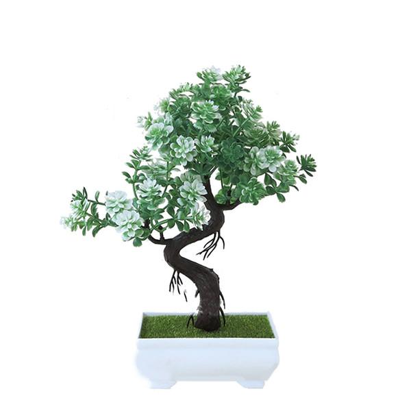 Acheter 1X Plantes Artificielles En Plastique Petit Arbre En Pot Plantes  Plante Fausse Maison De Mariage Printemps Eté Salon Hôtel Jardin Décor De  ...