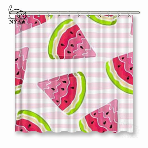 VIXM Watermelon Seamless Pattern. Shower Curtains Polyester Fabric Curtains For Home Decor