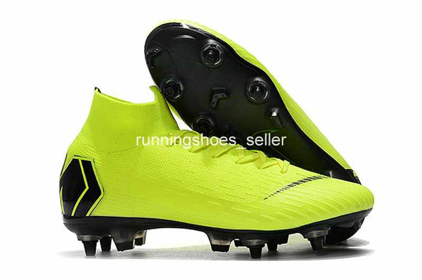 Outlet Scarpe Calcio 2019 Chaussures Nike Mercurial Superfly VI 360 Elite SG Fly Knit Bambini Mens Calcio Tacchetti Cr7 Chaussures Crampons De