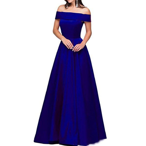 lady long maxi slash neck dress night evening party cocktail dress women's banquet dress