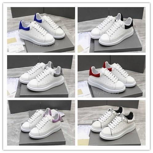 Los hombres zapatos casuales zapatos de diseñador de la marca de moda de las mujeres del diseñador plataforma reflectante 3M de tres capas negro y cuero blanco Suede plana Shoes12