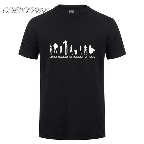 2019 mens designer t shirts Summer One Piece T Shirt Men Monkey Luffy T Shirts New Short Sleeve Anime Zoro Ace Law T-shirt