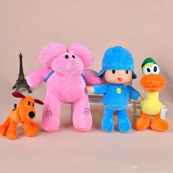 Pocoyo Soft Peluches 15-30CM 4PCS / set Figura Muñeca Yoyo Pato Loula Dolls Clásico Bebé Niños Suave Peluches Juguetes para niños y niñas