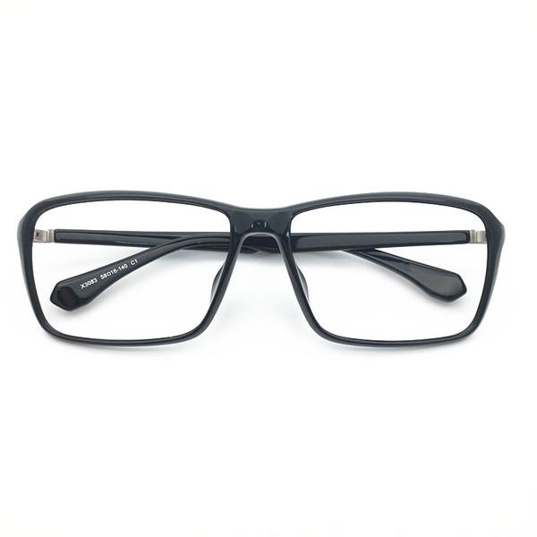 Brand Design women Big Square size acetate with titanium top quality optical frame spectacle frame optical Clear prescription Lenses 3083