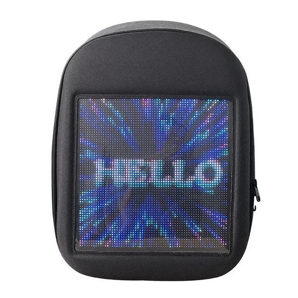 BEAU-Novel Smart Led Backpack Cool Black Customizable Laptop Backpack Innovative Christmas Gift School Bag
